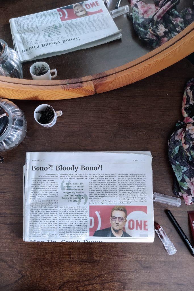Bono?! Bloody Bono?!